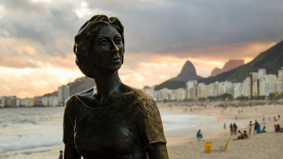 The statue of Clarice Lispector by the beach in Rio is a tribute to the Brazilian author's achievements (Credit: Alamy)