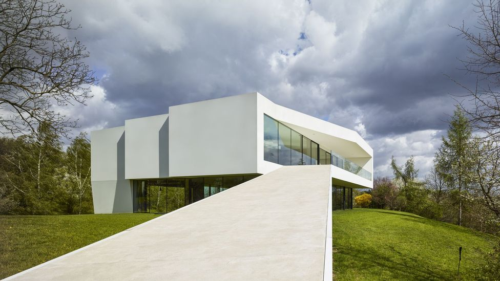 The futuristic By the Way House by KWK Promes is located in the Polish countryside (Credit: Juliusz Sokoaowski)