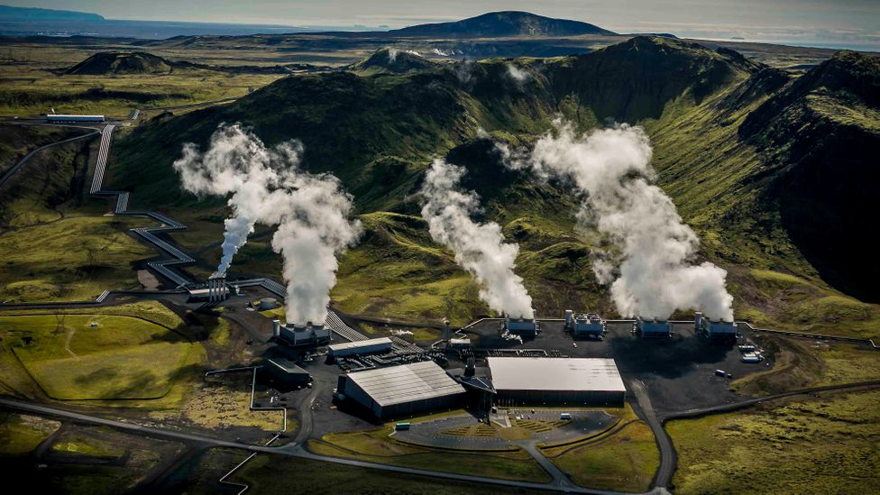 Iceland's Hellisheiði geothermal power plant has been home to CarbFix operations since 2014 (Credit: Arni Saeberg)