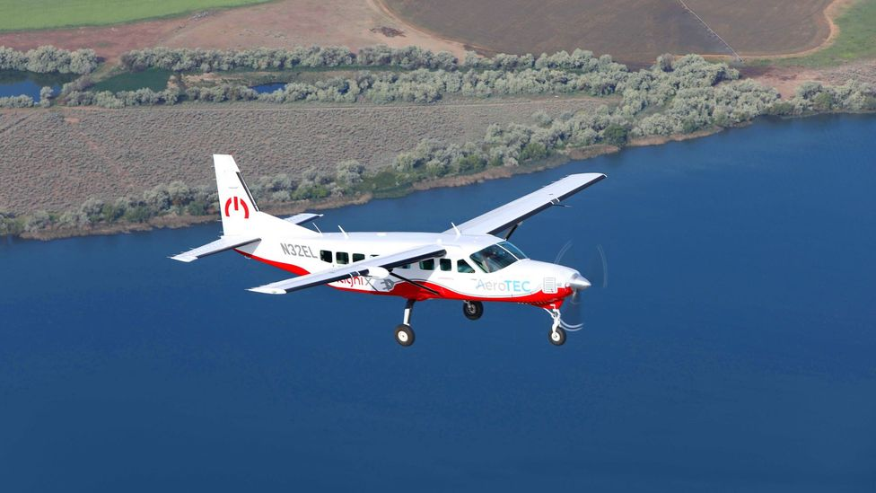 The eCaravan is the largest fully electric plane to take to the skies (Credit: MagniX)