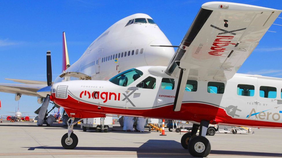 The eCaravan could be adapted to seat a grand total of nine passengers, but on its test flight it had just one seat for the pilot (Credit: MagniX)