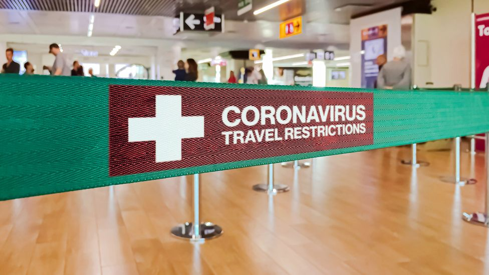 Airports in the future may have a respiratory inspection queue to detect coronavirus particles in people's breath (Credit: Rarrarorro/Getty Images)