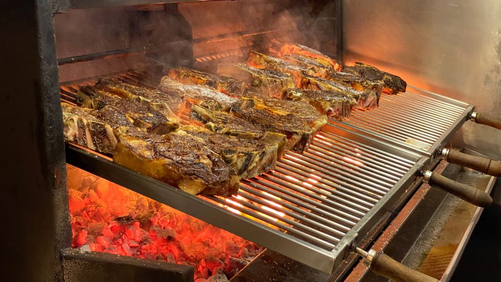 The grill, or parrilla, is used for cooking throughout the Basque Country (Credit: Ben Groundwater)