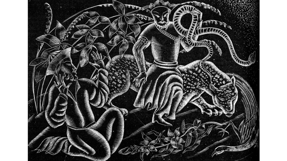 A 1920s wood engraving by Cynthia Kent was used to illustrate Sa'di's works in translation (Credit: Alamy)