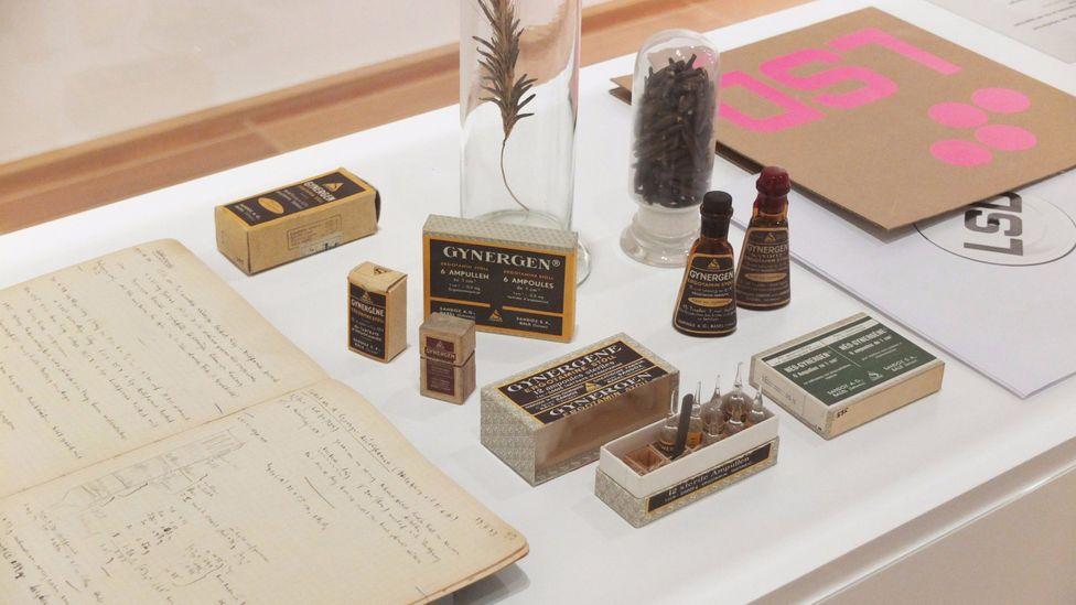 The original minutes of Albert Hofmann's LSD experiment were exhibited at the Kunstmuseum Basel in 2018 (Credit: Kunstmuseum Basel)