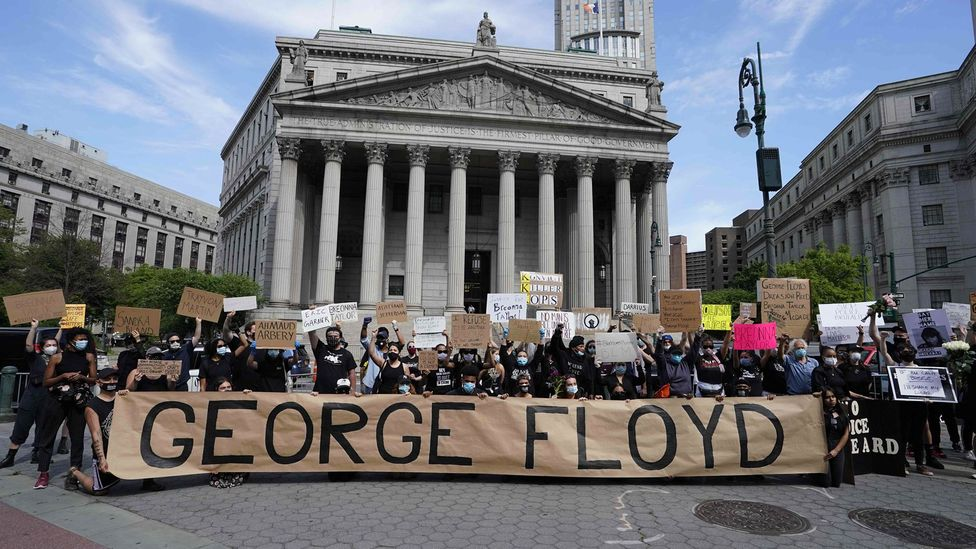 The death of George Floyd shone an spotlight onto the problems of racism and racist violence, sparking protests around the world (Credit: Getty Images)