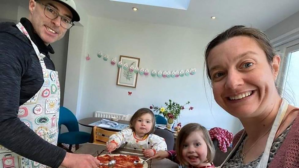 Couples like Una Morrison and Roger Dowley in Dublin are seeking gender-balanced childcare in the midst of the pandemic (Credit: Dowley and Morrison)