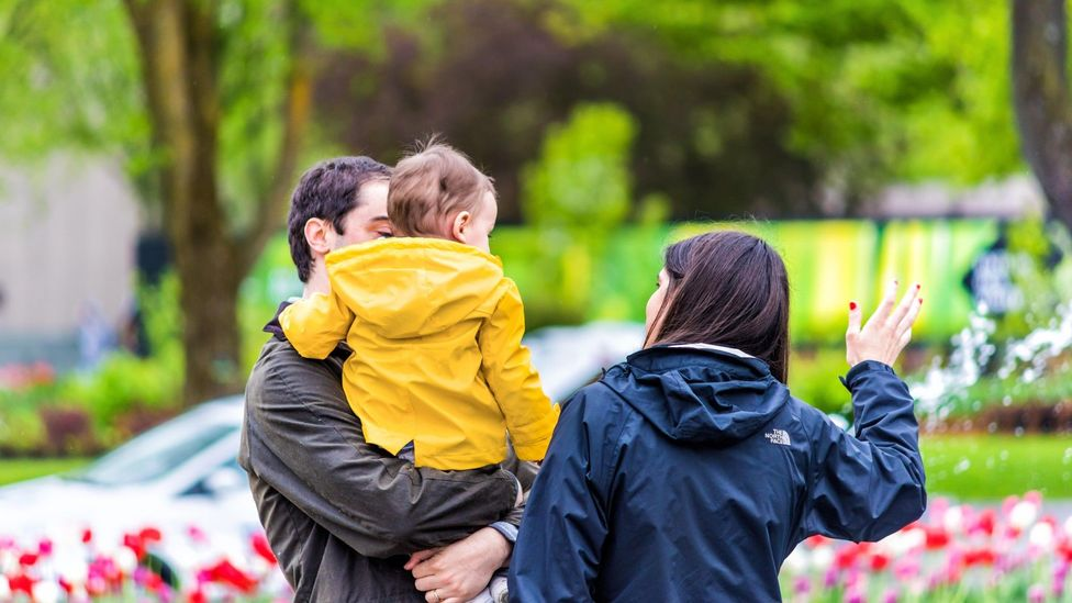 File image of a family in a park