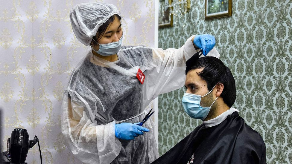 Hairdressers in Moscow reopened in mid-June despite cases in Russia being among the highest globally (Credit: Getty Images)