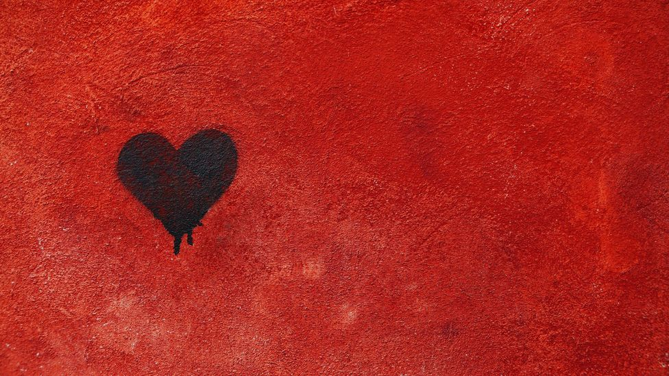 Black heart on red wall (Pic: Getty Images)