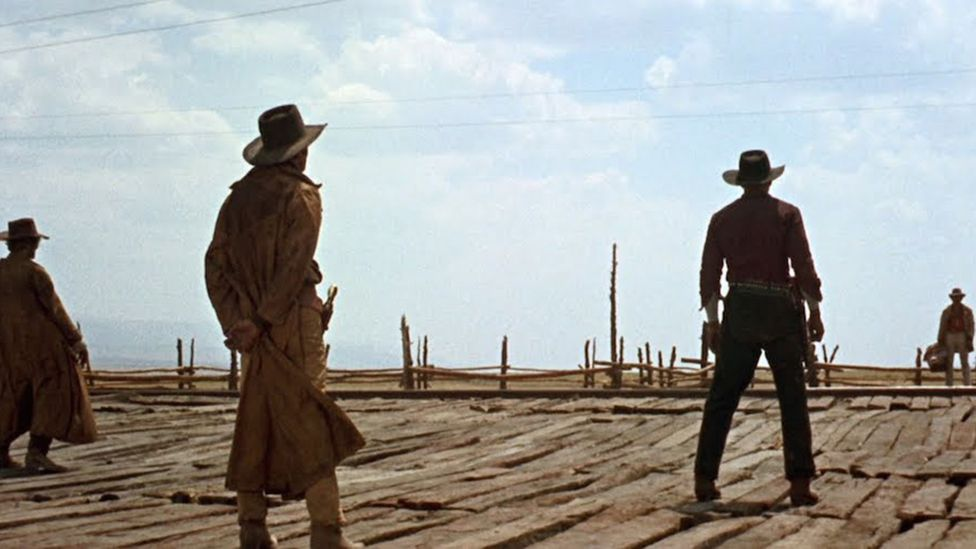 Sergio Leone co-wrote the screenplay for Once Upon a Time in the West with Bernardo Bertolucci and Dario Argento (Credit: Paramount Pictures)