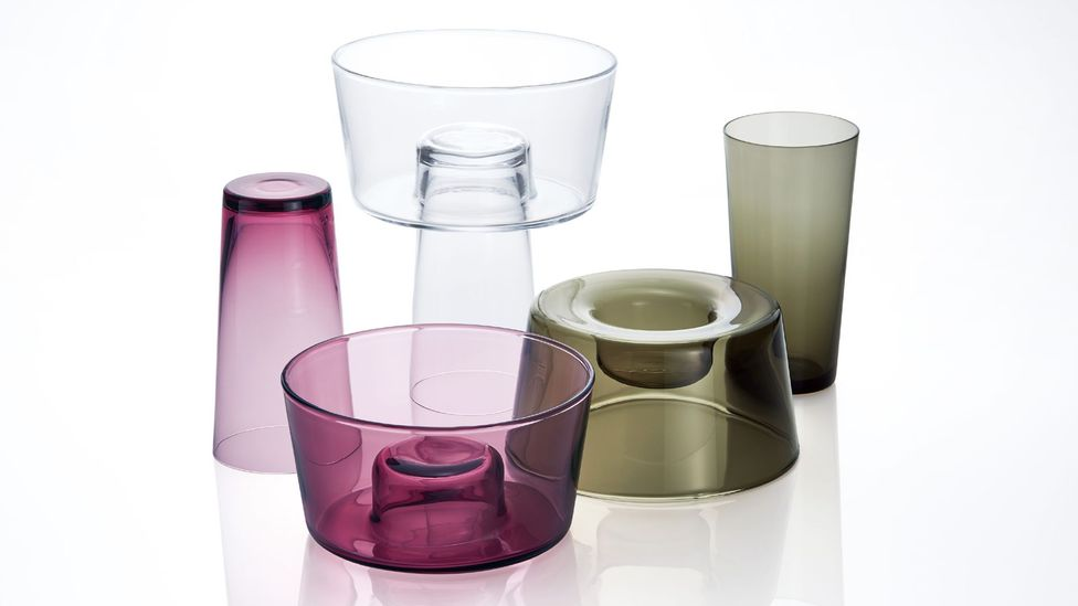 Japanese glass brand Sugahara creates vases as well as stackable vessels (Credit: Sugahara)