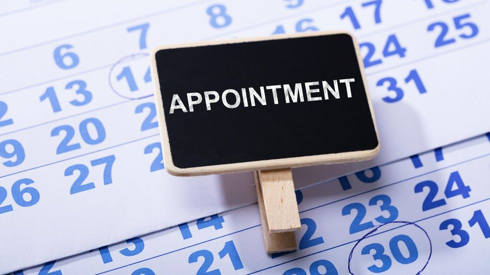 Putting an appointment in the diary can be a powerful statement, even if it doesn't come off