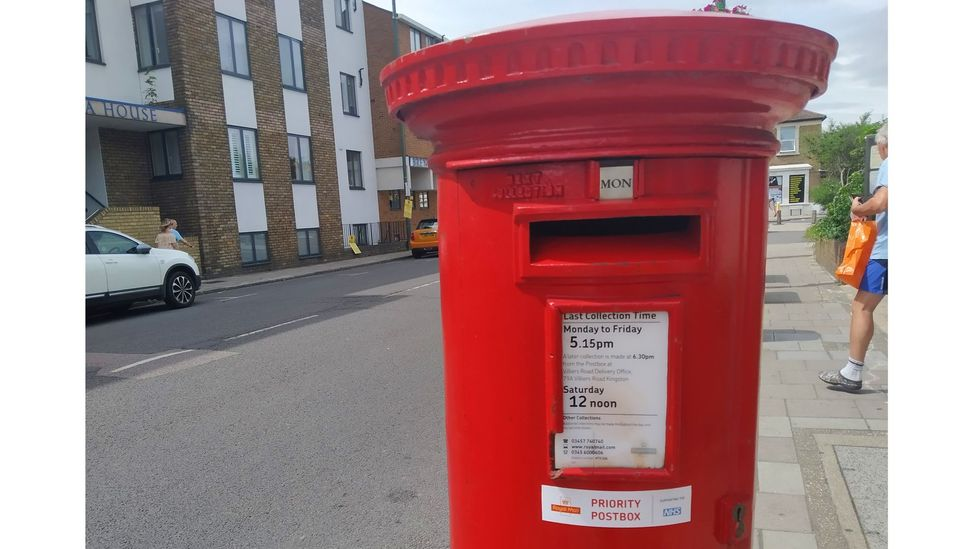 "Once a week, I swab my tonsils and nose before posting the sample in a Royal Mail ""priority postbox"" (Credit: Richard Fisher)"