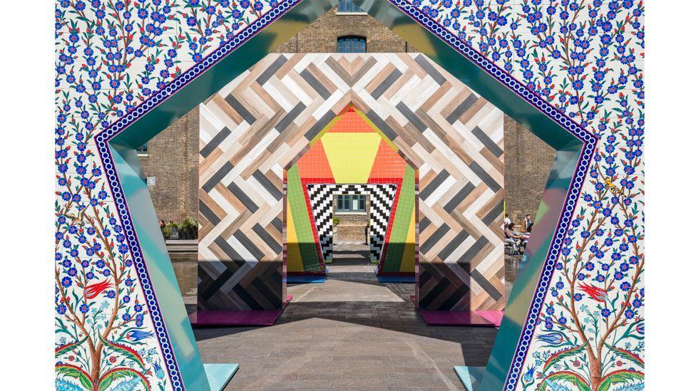 Gateways, an installation by Adam Nathaniel Furman, is inspired by diverse influences, including Turkish ceramics (Credit: Gareth Gardner)