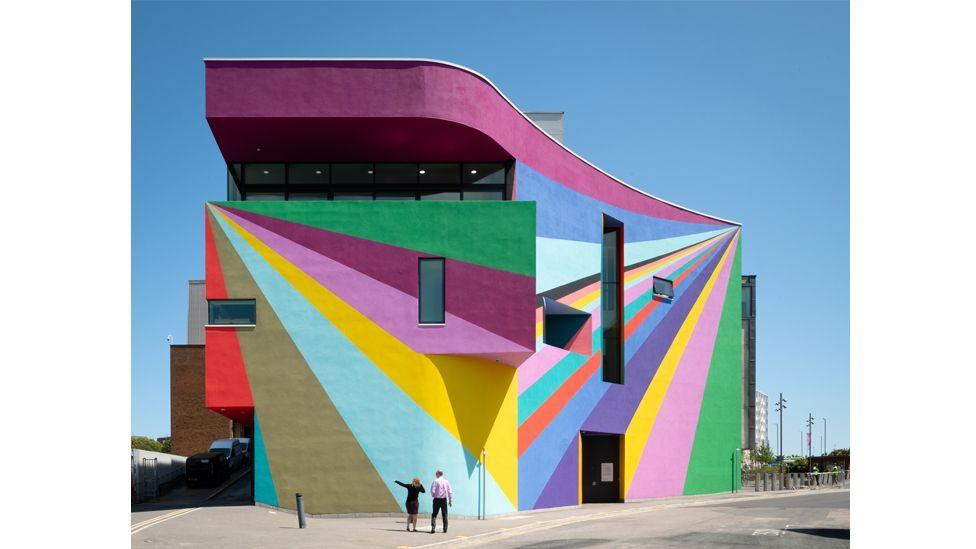 Design duo Space Popular's mural has transformed the Towner gallery in Eastbourne, UK (Credit: Jim Stephenson)