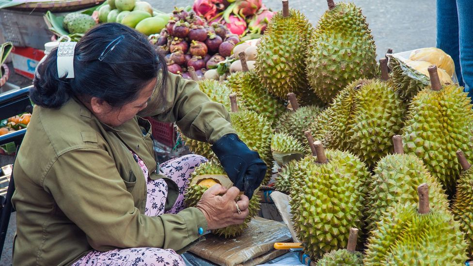 The durian fruit, famous for its repugnant odour, could provide the material to make a new generation of supercapacitors (Credit: Alamy)