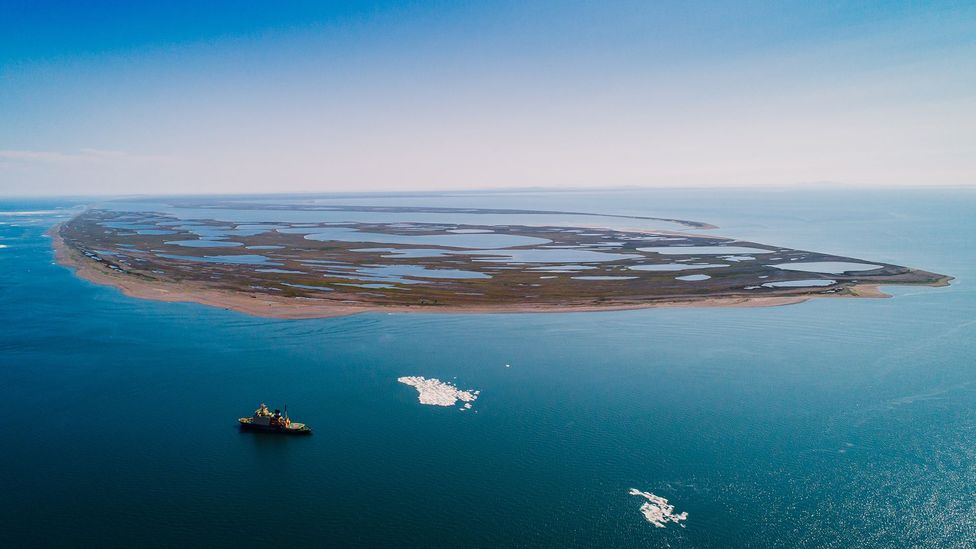 The retreating of Arctic sea ice as the climate warms opens up the possibility of new shipping lanes (Credit: Getty Images)