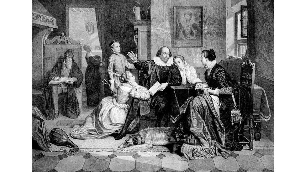 Maggie O'Farrell'in yeni romanı Shakespeare'in karısı ve ailesi üzerine odaklanıyor ve arka planda hıyarcıklı veba baş gösteriyor (Kredi: Alamy)
