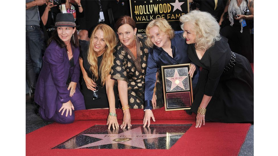 The Go-Go's were finally honoured with a star on the Hollywood walk of fame in 2011 (Credit: Alamy)