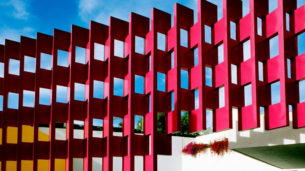 Ricardo Legoretta's recent design of Hotel Camino Real, Mexico, was influenced by the work of Luis Barragan (Credit: Alamy)