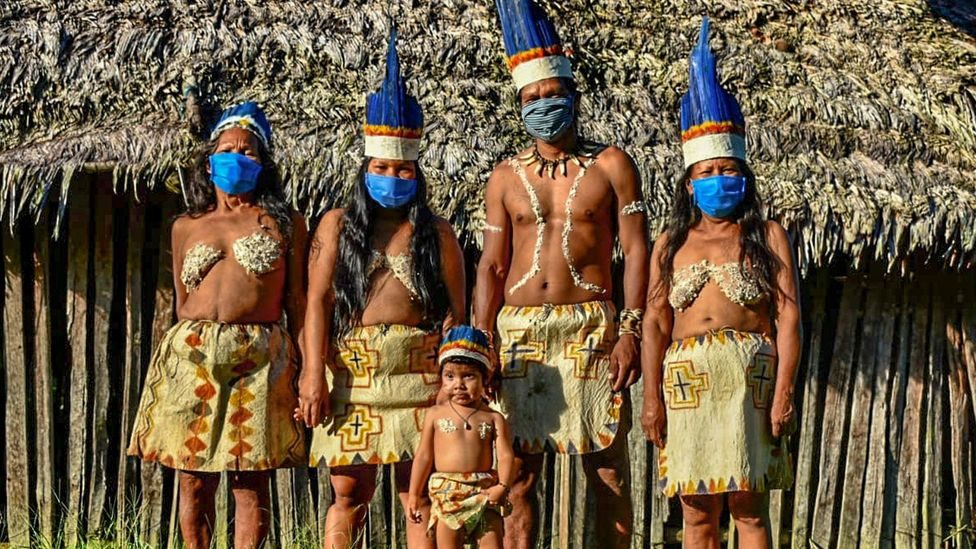 From once having 50,000 members, the Amazon's Huitoto tribe now has less than 1,000; Covid-19 could threaten the survival of tribes like this (Credit: Getty Images)