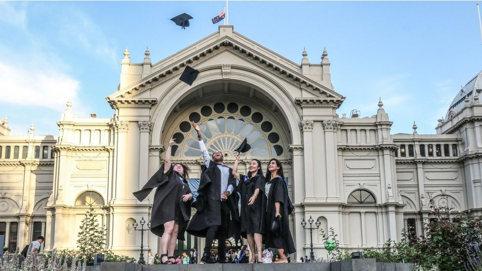 File image of graduates at the University of Melbourne