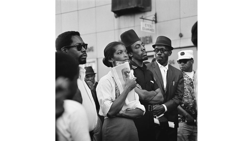 Marcus Garvey Day parade, Harlem, 1967, by Kwame Brathwaite (Credit: Courtesy of the artist and Philip Martin Gallery, LA)