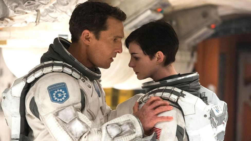 One of Interstellar's most moving moments is when Matthew McConaughey's astronaut watches a backlog of messages from his children (Credit: Alamy)