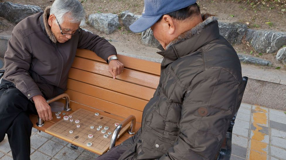 Elderly people in Korea depend on public spaces and community centres to stay connected (credit: Alamy)