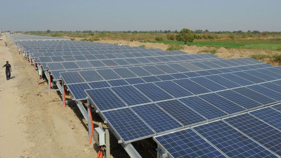 The solar canals of Gujarat, in western India, make use of space that would otherwise be disused (Credit: Getty Images)