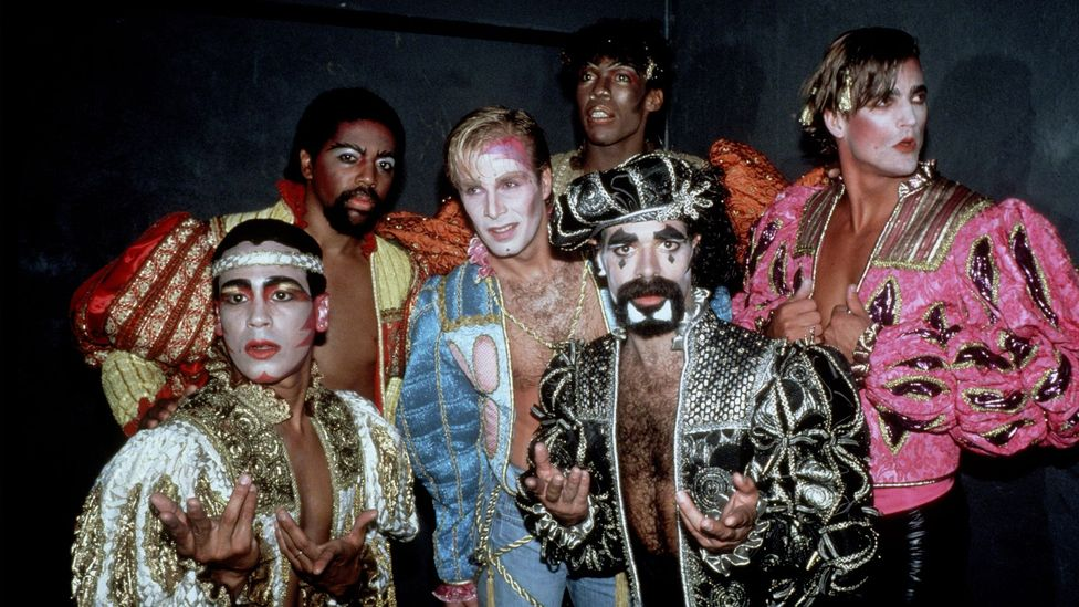 Despite being queer pioneers, the Village People are now more often thought of as novelty act, thanks to hits like YMCA and Macho Man (Credit: Gett Images)