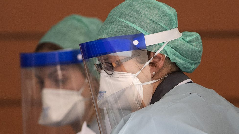 Face shields have been a key part of personal protection equipment for frontline health workers (Credit: Getty Images)