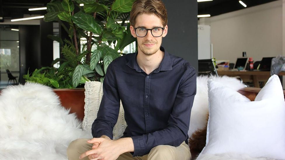A self-described 'recovering productivity junkie', Matthew Church, 24, went from 70-hour-workweeks to healthier, manageable schedules with the help of therapy (Credit: Church)