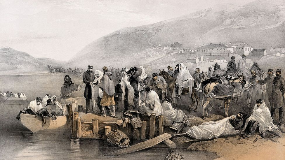 In the Crimean War, many of those wounded on the battlefield later died due to filthy conditions (Credit: Getty Images)