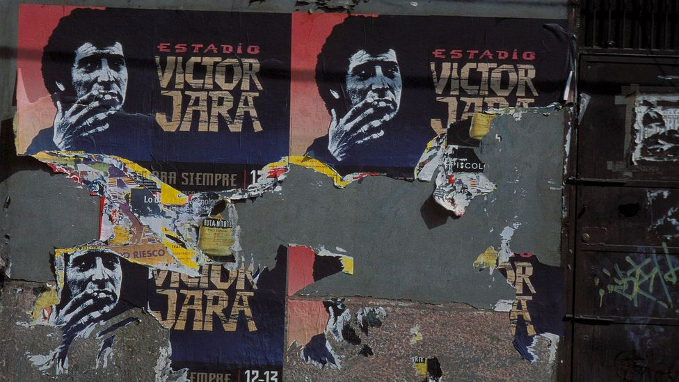 Víctor Jara remains an icon in Chile, and in 2003 its national stadium was named after him (Credit: Getty Images)