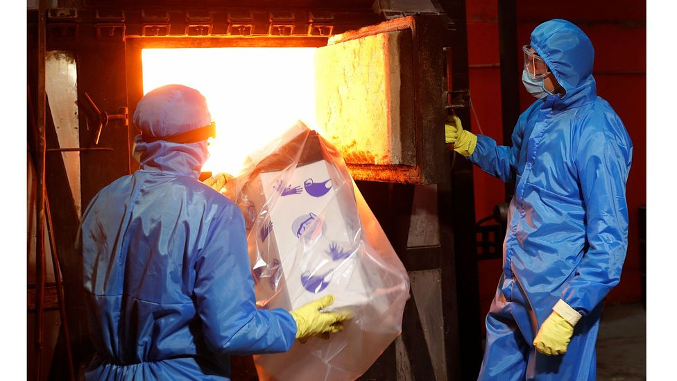 """Saving reusable """"waste"""" from the incinerator can cut hospital costs, leaving more money to channel into caring for patients (Credit: Reuters)"""