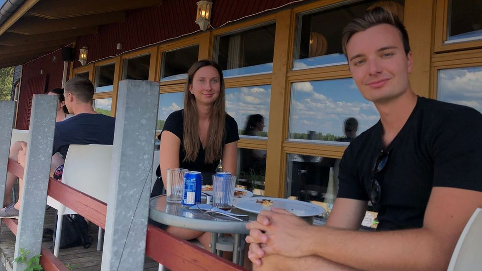 Alexander Sandvik and Saga Norman, both in their 20s, had to change their 2020 holiday plans due to Covid-19, so they opted to stay in the country (Credit: Sandvik and Norman)