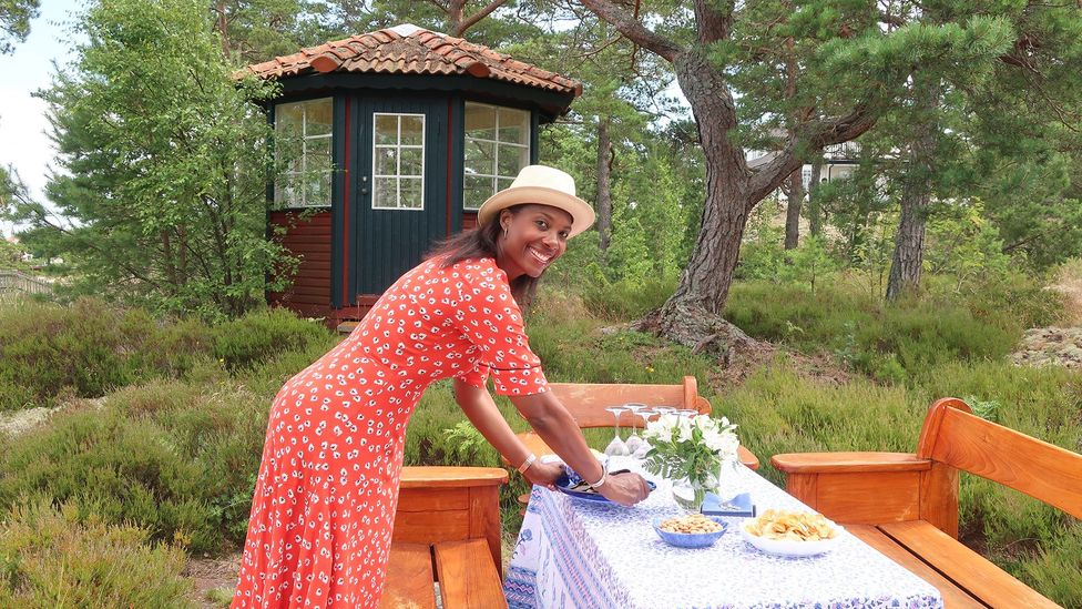 US-born author Jennifer Dahlberg thinks that rural staycations in Sweden close to nature help people recharge before a long, dark winter (Credit: Dahlberg)