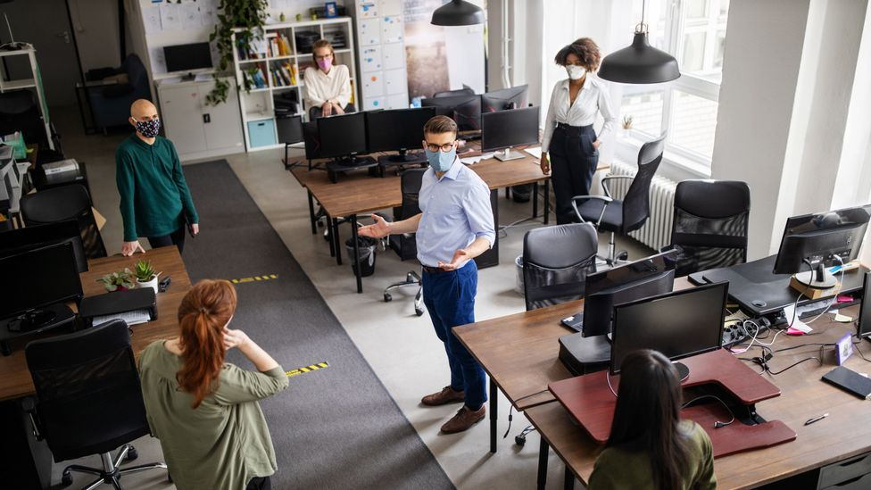 Many readers say they are concerned about whether offices are taking adequate safety measures (Credit: Getty Images)