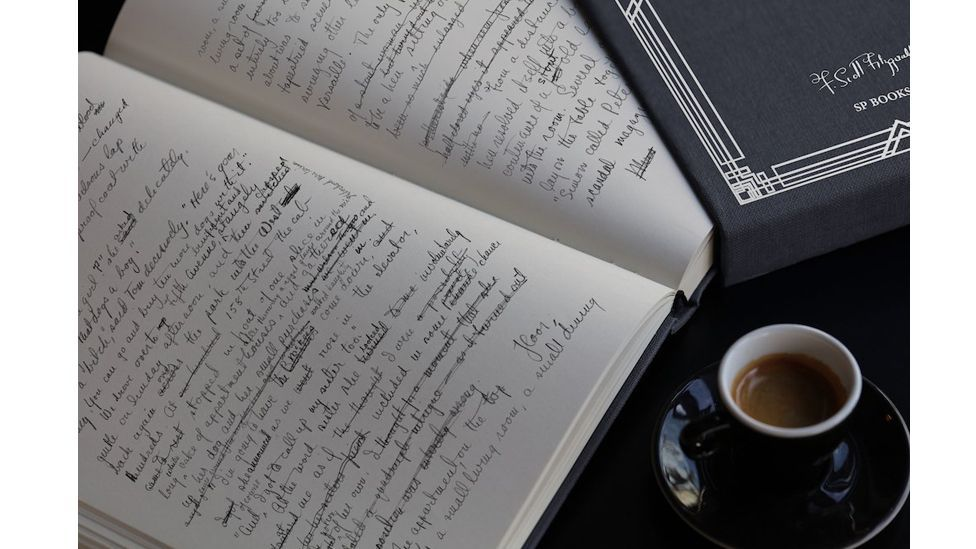 The original manuscript of The Great Gatsby reveals intriguing details about Fitzgerald's intent and method (Credit: SP Books)