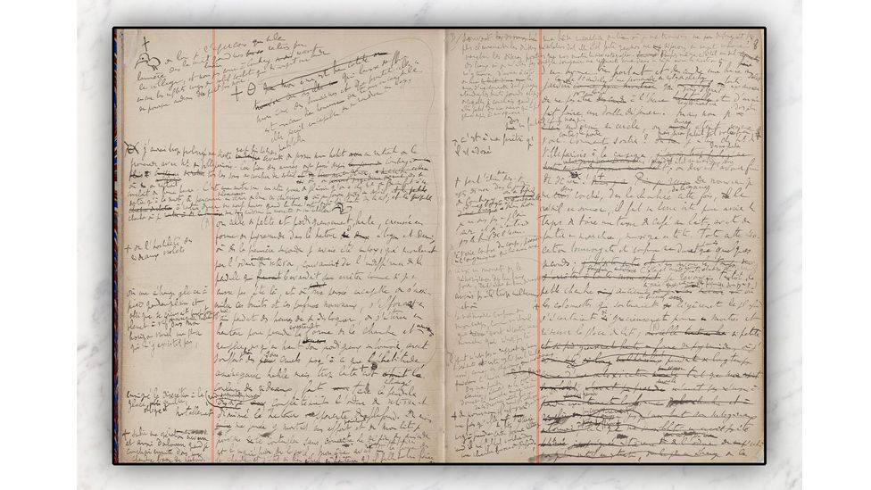 The notebooks in which Proust hand-wrote his masterpiece In Search of Lost Time are full of the author's revealing notes (Credit: SP Books)