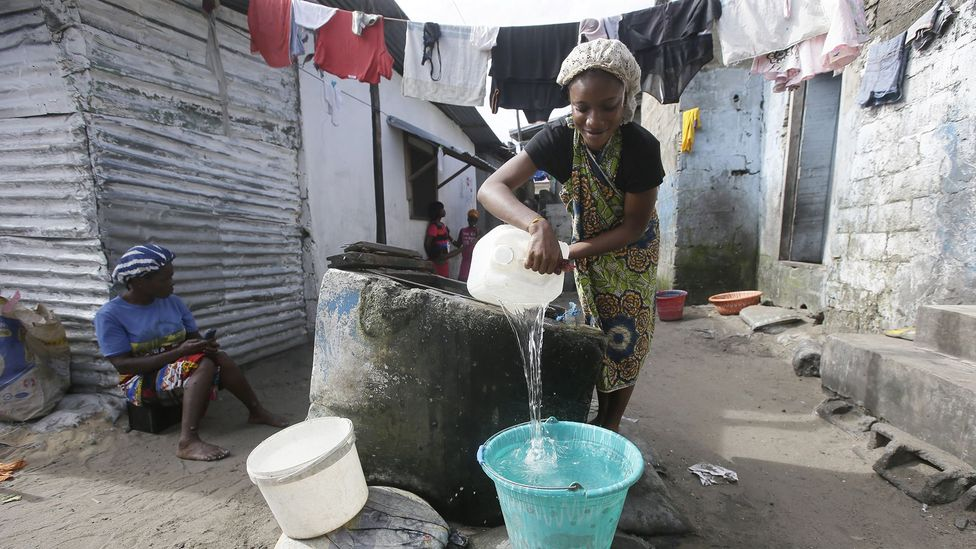 In many parts of the world, finding water to regularly wash hands can be difficult (Credit: EPA)