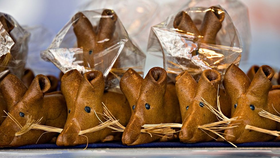 Bakeries in Hamelin, Germany, sell rat-shaped pastries (Credit: Chris Howes/Wild Places Photography/Alamy)