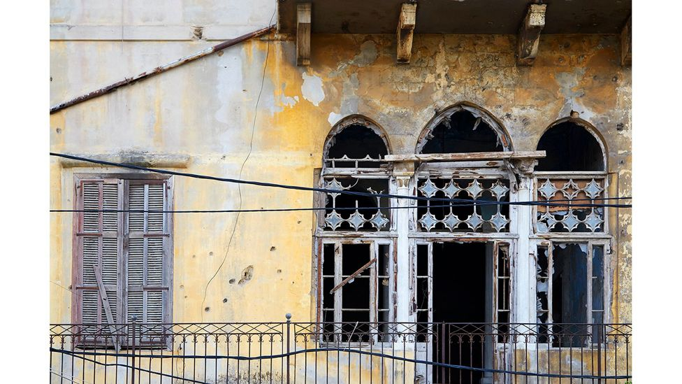 Even before the blast, some of the buildings were abandoned, marked by the civil war, and slowly falling into ruin (Credit: Joseph M Khoury)