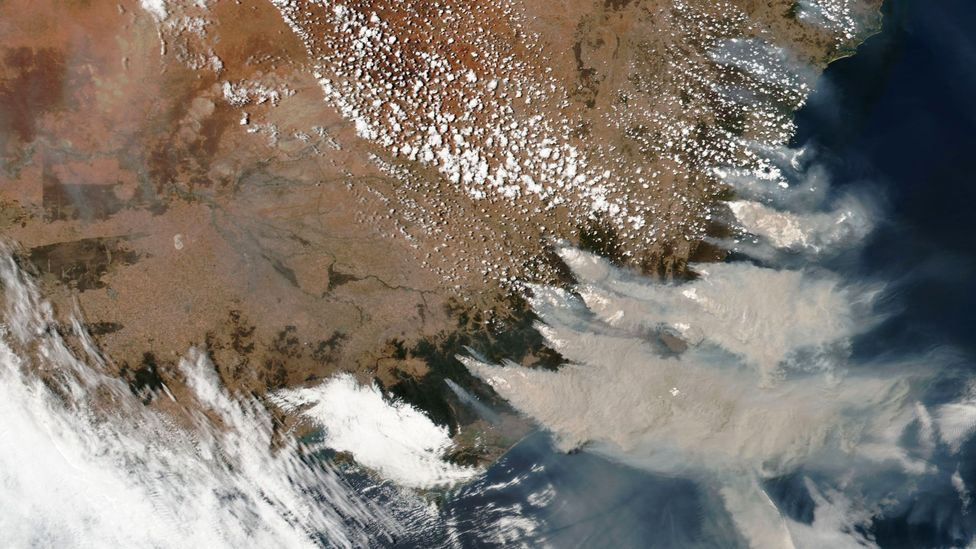 The smoke from fires in Australia in 2019 and early 2020 led to a spike in hospitalisations in New South Wales (Credit: NASA/Maxar Technologies)