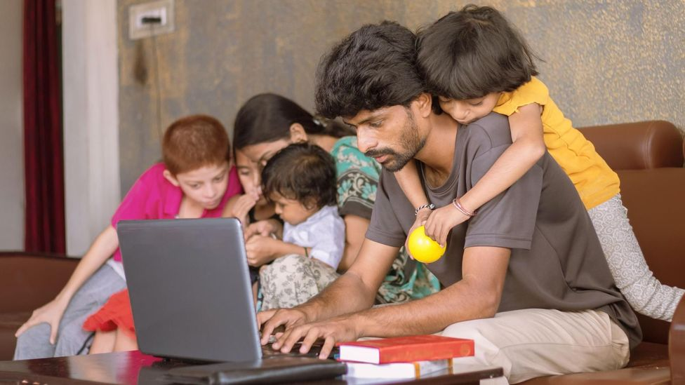 There are hidden inequalities in working from home, as workers with spotty internet or childcare duties may have a much harder time completing tasks (Credit: Alamy)