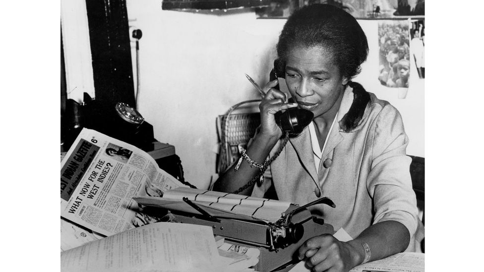 The founder of the Notting Hill Carnival Claudia Jones was a Trinidadian human rights activist who settled in the UK in the 1950s (Credit: Getty Images)