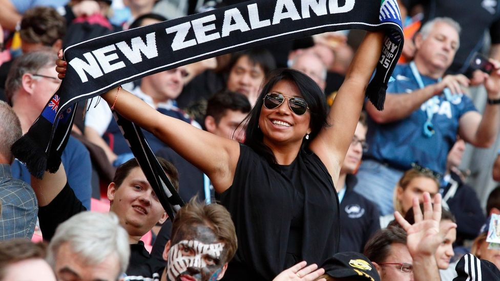 Large numbers of New Zealanders - like these rugby fans in London - head overseas to find work in big cities around the world