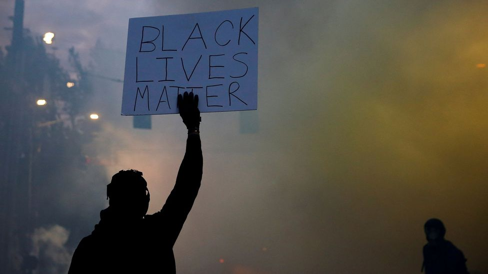 The death of George Floyd while being restrained by police officers led to widespread protests across the US and around the world (Credit: Reuters)